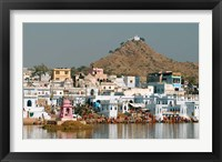 Framed Pushkar shore, Pushkar, India