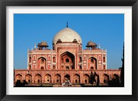 Framed Humayun's Tomb, Delhi, India