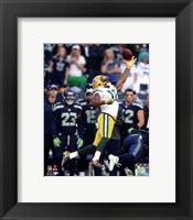 Framed Randall Cobb Receiving Football