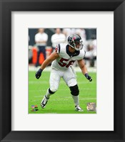 Framed Brian Cushing 2014 Action