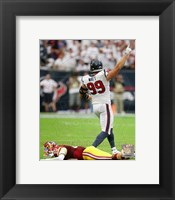 Framed J.J. Watt 2014 Action