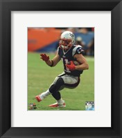 Framed Julian Edelman with the ball 2014