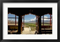 Framed View from arched doorway, Gompas And Chortens, Ladakh, India