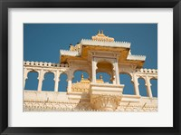 Framed City Palace, Udaipur, Rajasthan, India.