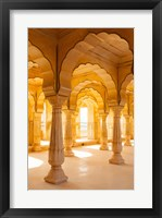Framed Colonnaded gallery, Amber Fort, Jaipur, Rajasthan, India.