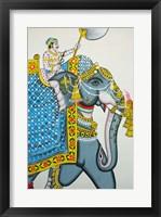 Framed Elephant mural, Mahendra Prakash hotel, Udaipur, Rajasthan, India.