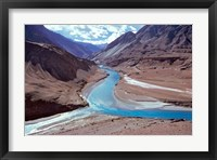 Framed India, Ladakh, Indus and Zanskar Rivers merge