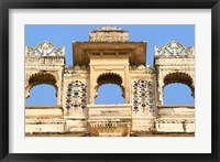Framed Architectual detail on City Palace, Udaipur, Rajasthan, India