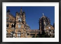Framed Chhatrapati Shivaji (Victoria) Terminus, Mumbai, India