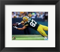 Framed Jordy Nelson 2014 catching the ball