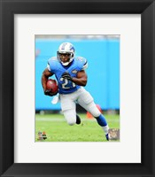 Framed Reggie Bush Running On Football Field