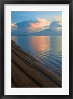Framed Indonesia, Bali Sanur Beach with Mount Gunung Agung
