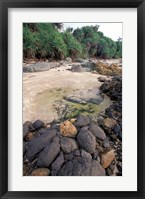 Framed Beach Landscape, Java, Indonesia