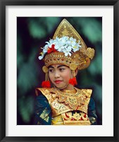 Framed Young Balinese Dancer in Traditional Costume, Bali, Indonesia