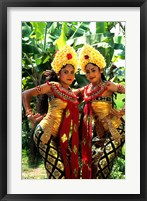 Framed Golden Dancers in Traditional Dress, Bali, Indonesia
