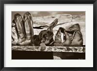 Framed Big Foot