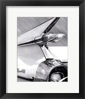 Framed White Cadillac