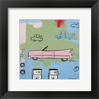 Framed Pink Car