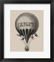 Framed Le Pilote