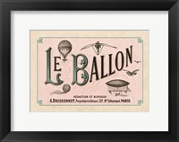 Framed Le Ballon, ca. 1883