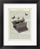Typewriter Framed Print