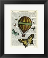 Butterflies & Balloon Framed Print