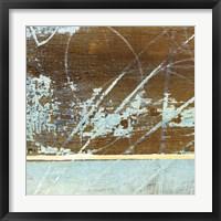 Framed Barn Blue Square I