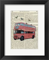 Framed Butterfly London Bus