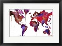 Framed Watercolor Map No. 1