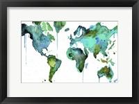 Framed Watercolor Map No. 6
