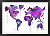 Framed Watercolor Map No. 8