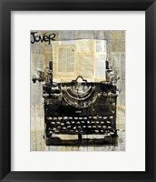 Framed Typewriter