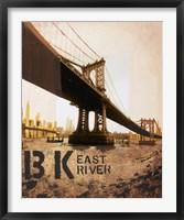 Framed East River & Manhattan Bridge