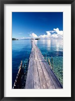 Framed Wooden Jetty Extending off Kadidiri Island, Togian Islands, Sulawesi
