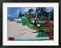 Framed Fishing Outriggers on Sanur Beach, Indonesia