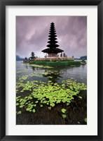 Framed Ulun Danu Temple, Bali, Indonesia