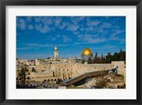Framed Israel, Jerusalem, Western Wall and Dome of the Rock