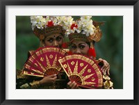 Framed Legong Dancers, Bali, Indonesia