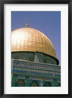 Framed Dome of The Rock, Jerusalem, Israel