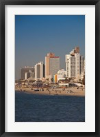 Framed Israel, Tel Aviv, beachfront hotels, late afternoon