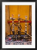 Framed Sheesha pipes, Jerusalem, Israel