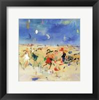 Beach Play I Framed Print