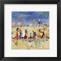 Beach Play 2 Framed Print