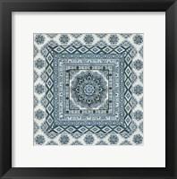 Framed Blue Silver Tile II