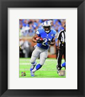 Framed Reggie Bush Running Football