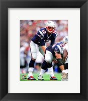 Framed Tom Brady 2014 in position