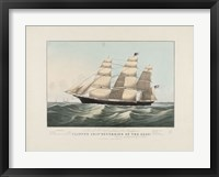 "Framed Clipper Ship ""Sovereign of the Seas"", 1852"