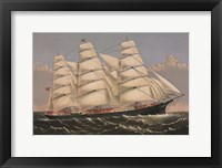 "Framed Clipper Ship ""Three Brothers"", ca. 1875"