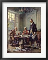 Framed Writing the Declaration of Independence, 1776