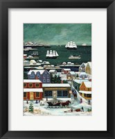 Framed Winter in Nantucket Harbor